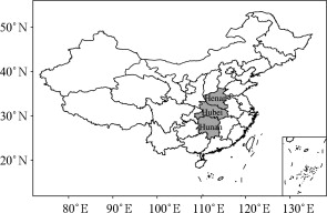 The schematic figure of Central China