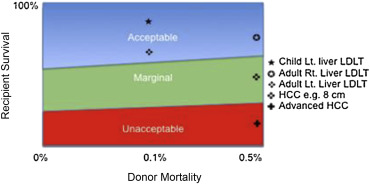 Equipoise between recipient survival and donor mortality in left liver and right ...