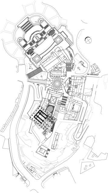Zenithal plan of the Capitoline Hill, representing Aymonino׳s plan for the new ...