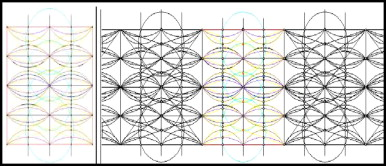 The 2D striated diagram illustrating the network of curves corresponding with ...