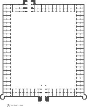 Ground floor plan of choto katra with an enclosed courtyard.