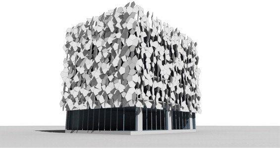 Cairo tile facade visualization.
