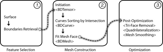 Proposed workflow for boundary-driven mesh optimization.