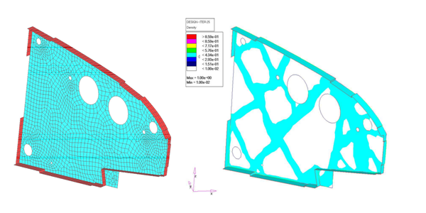 Topology optimization applications on aeronautical industry. The topology optimization fields is useful and developed enough for giving answers to real industry problems.